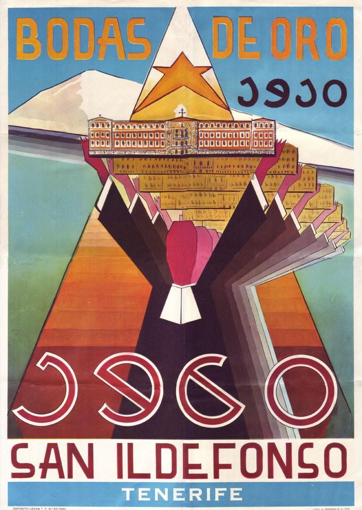 Cartel ganador del Concurso de carteles del 50 Aniversario | 1910 - 1960 | Bodas de oro | Colegio La Salle San Ildefonso