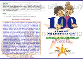 Programa de actos de la II Feria de Voluntariado