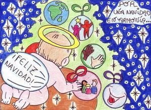 Tarjeta de felicitación de la Navidad 2009-2010