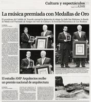 """La Opinión de Tenerife - Sábado 27 de noviembre de 2010 - Página 39 """"La música premiada con Medallas de Oro"""""""