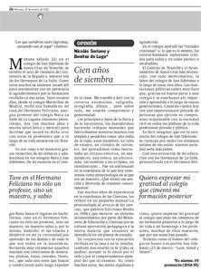 """Diario de avisos - Viernes 21 de enero de 2011 - Página 17 """"Cien años de siembra"""""""
