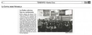 """El Día - Sábado 22 de enero de 2011 - Página 6 """"La Salle culmina hoy su centenario"""""""