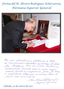 Firma H. Álvaro Rodríguez Echevarría (H. Sup. Gral)