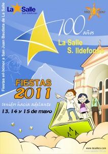 Cartel de las Fiestas de La Salle San Ildefonso 2011