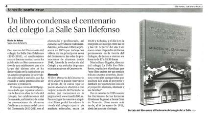 Diario de Avisos – Martes, 3 de enero de 2012 – Página 4