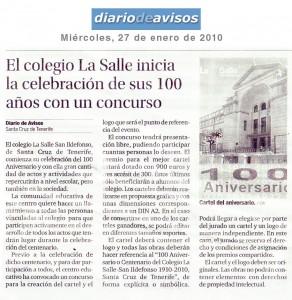 Diario de avisos, miércole 27 de enero de 2010